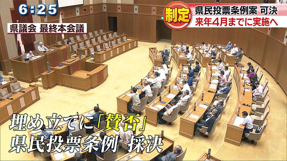 県民投票条例制定 2019年4月までに実施へ