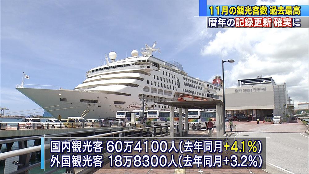 11月の観光客数が過去最高