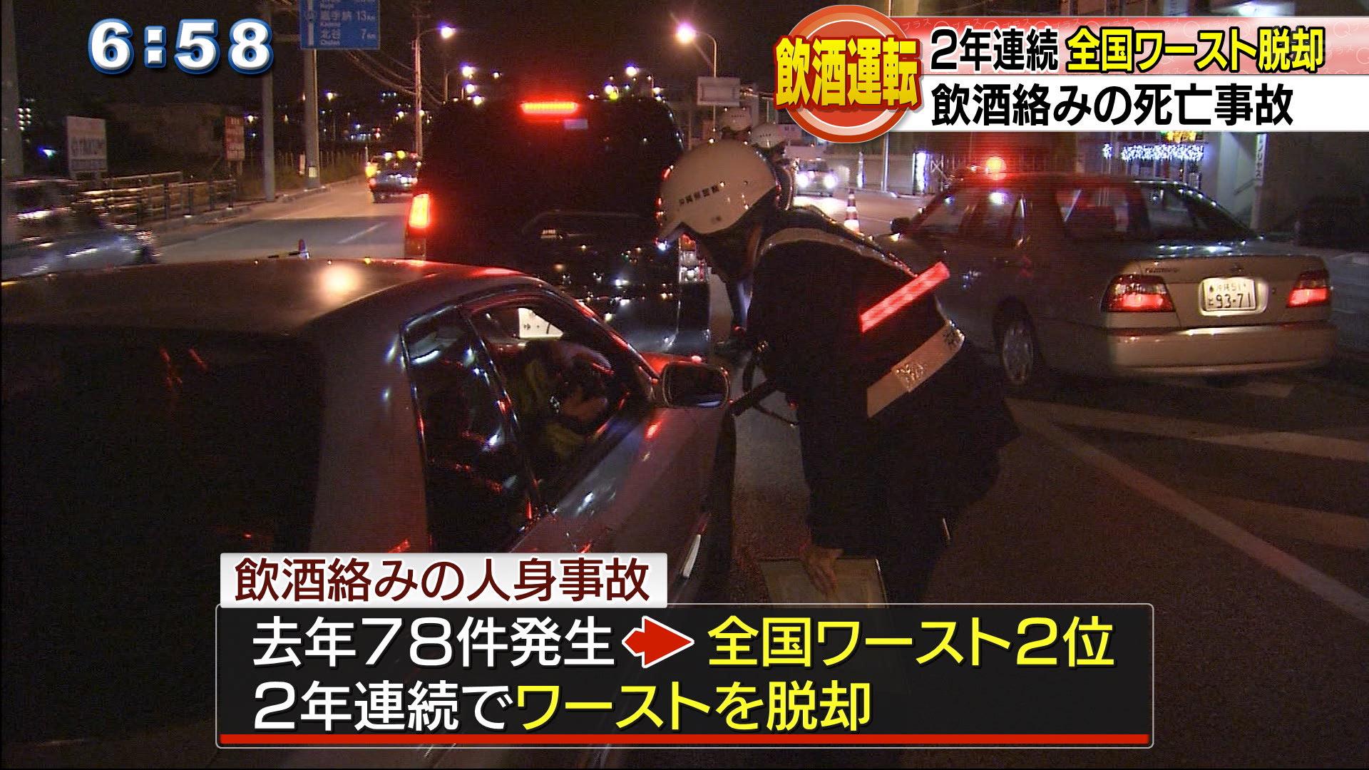 沖縄は飲酒絡みの事故 全国ワースト2位