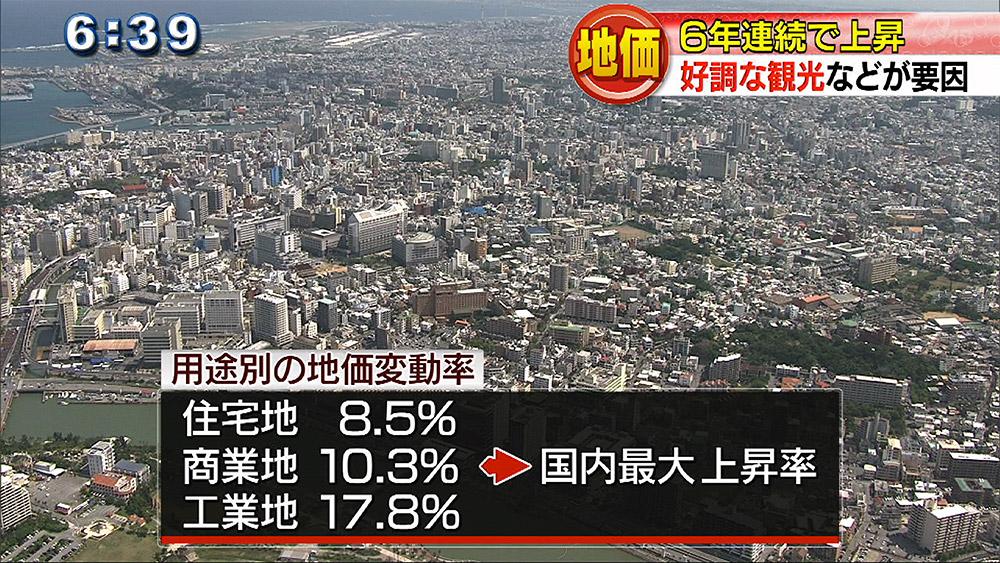 県内地価 6年連続で上昇