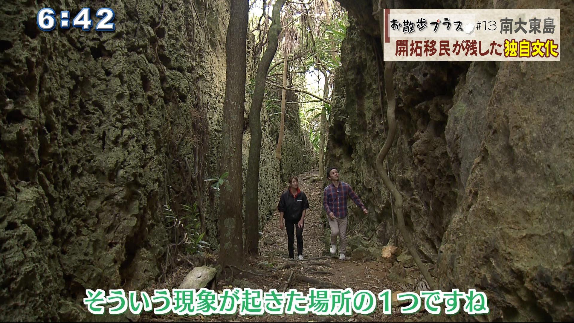 ここは島にできた裂け目、割れ目バリバリ岩と呼ばれている場所