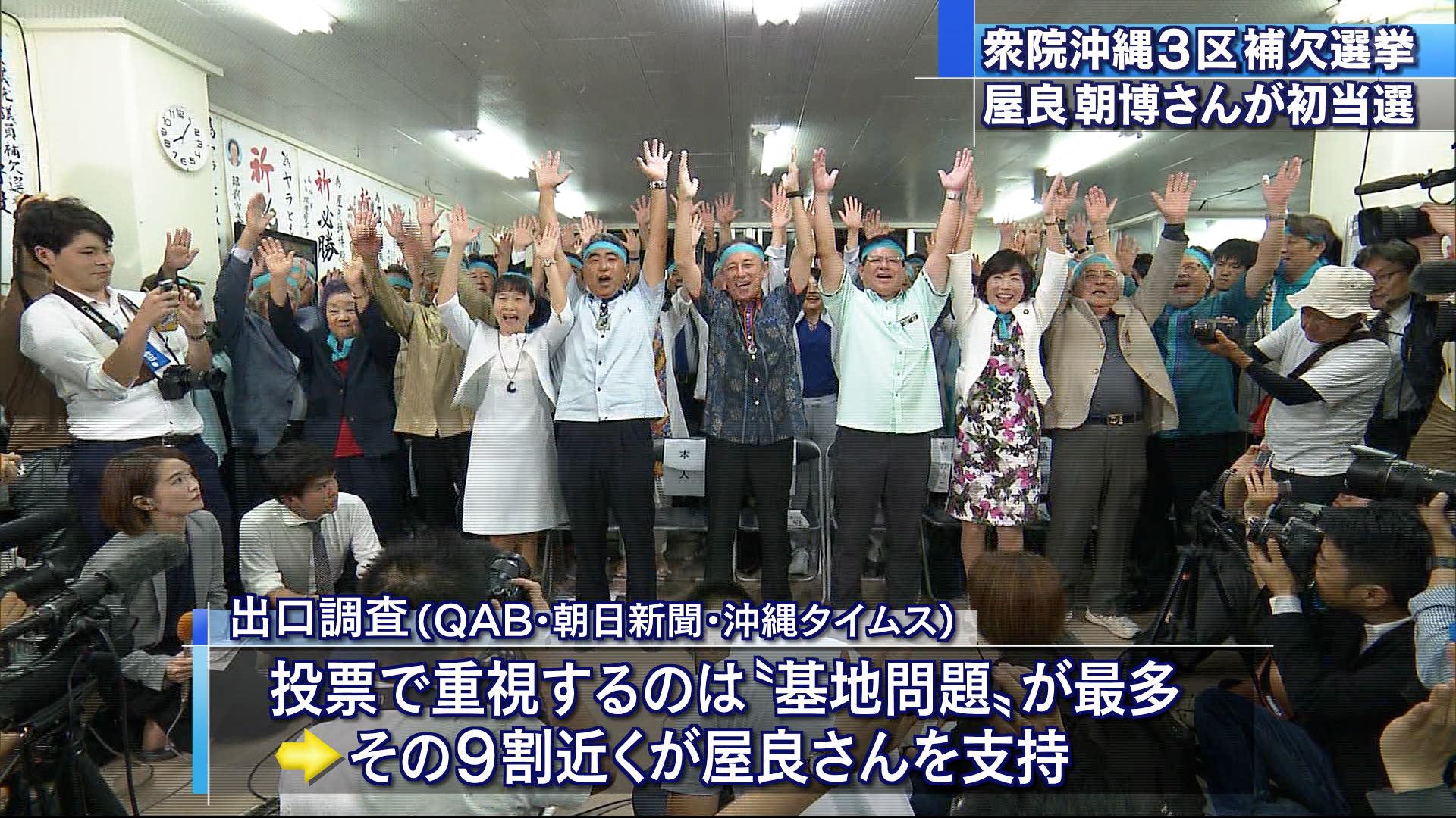 衆院3区補選 屋良朝博さんが当選 投票率は44%