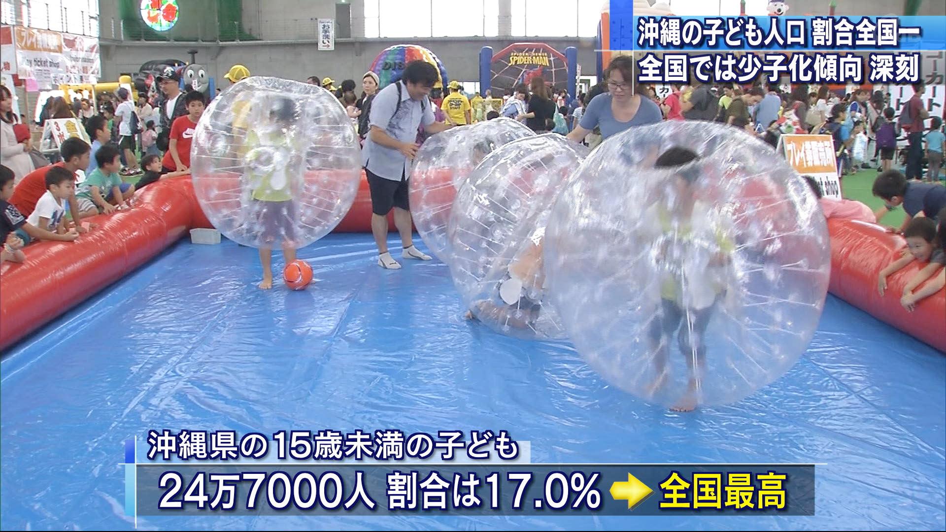 沖縄の子ども24万7000人で横ばいも割合は最多