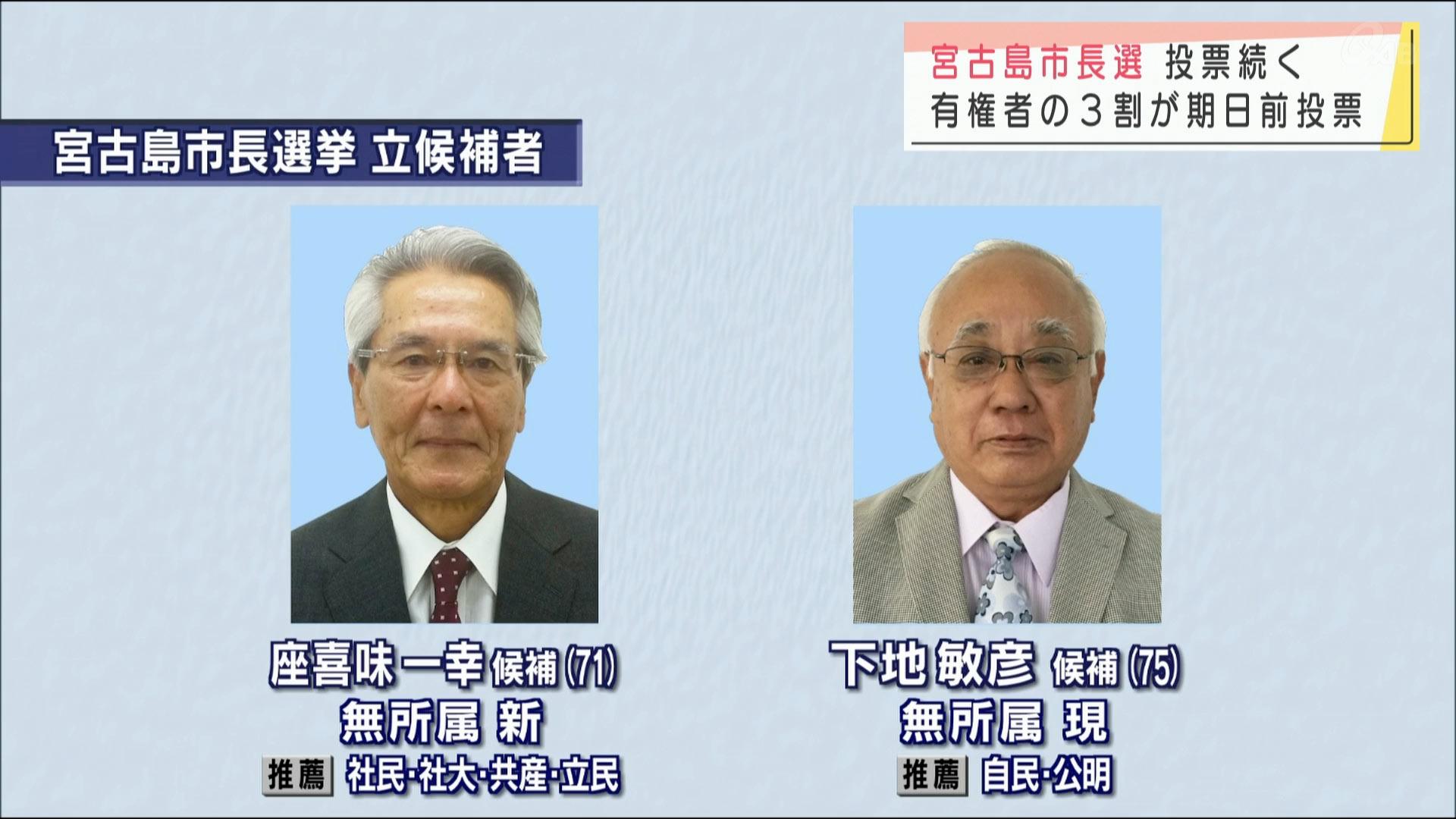 宮古島市長選 投票続く