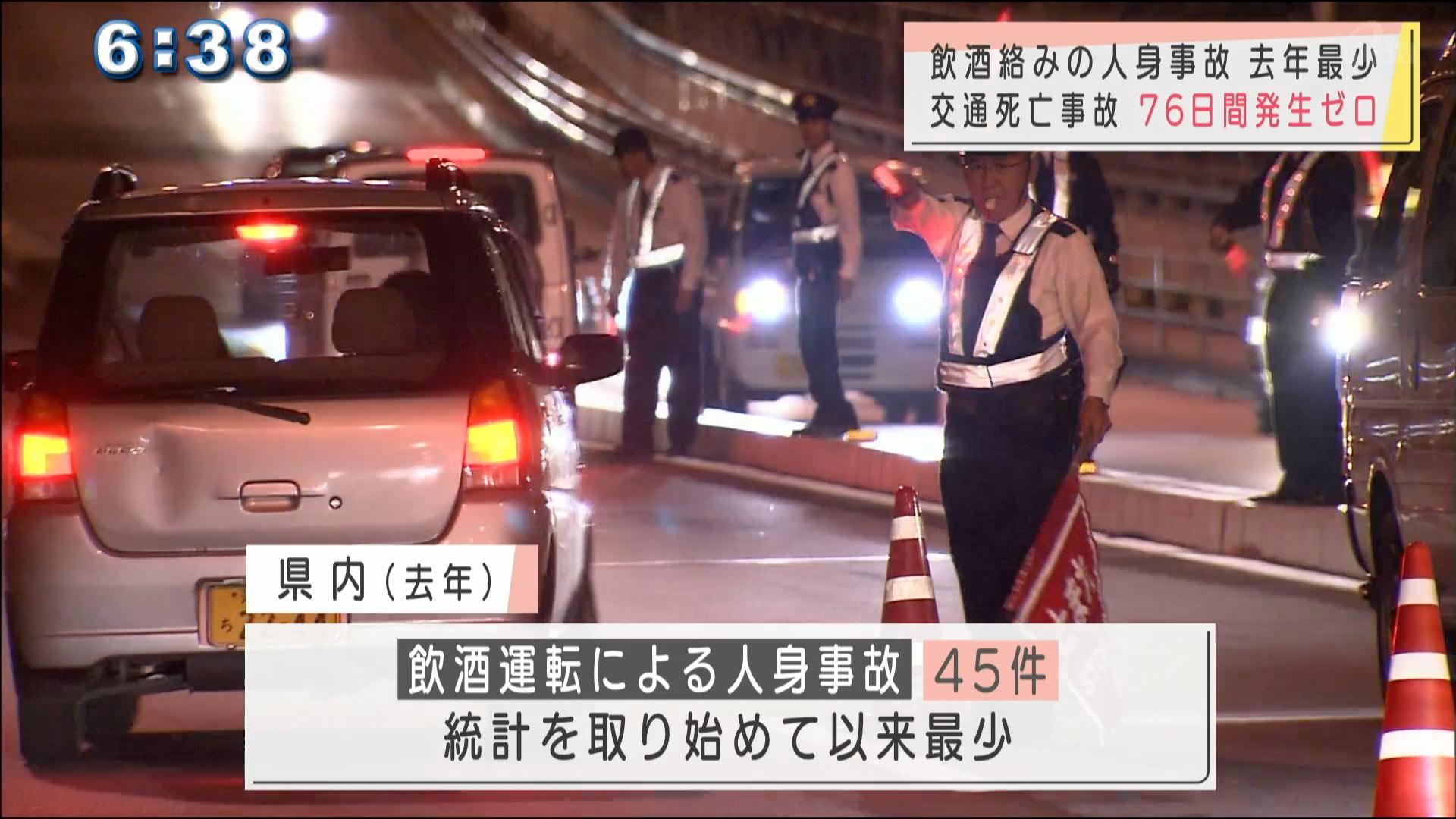沖縄 飲酒運転摘発件数1429件