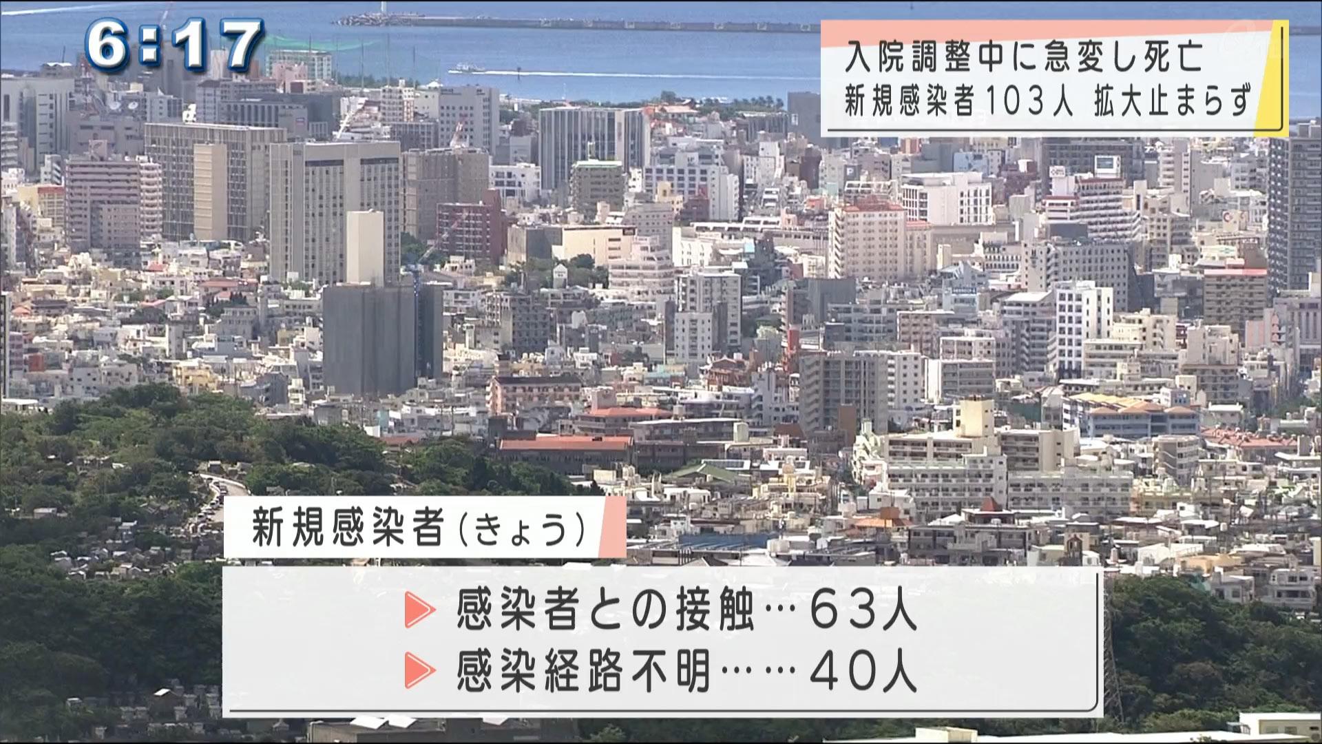 沖縄県 コロナ新規感染者103人 1人死亡