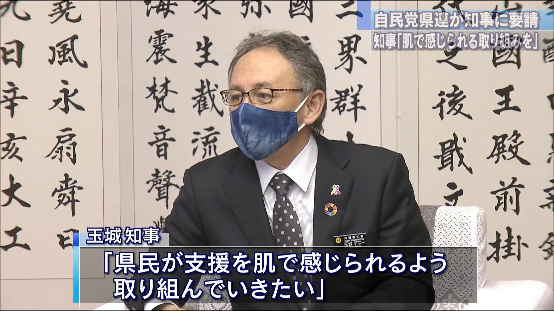 自民党沖縄県連が知事に財政支援を要請