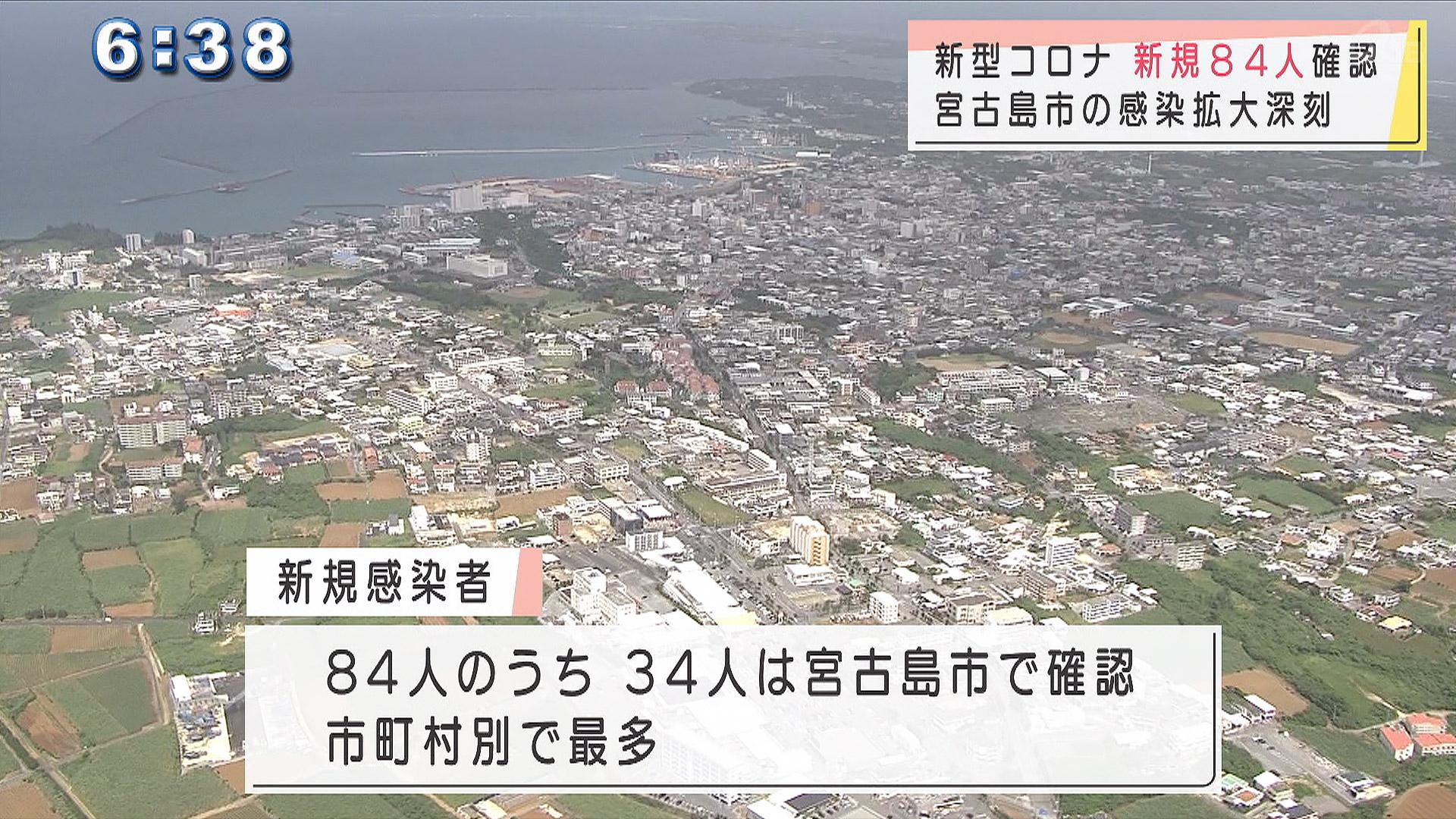 新規感染者84人 うち宮古島市で34人