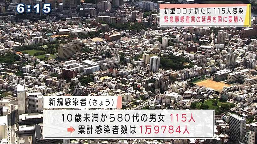 沖縄 新型コロナきょうの感染状況と緊急事態宣言延長求める方針