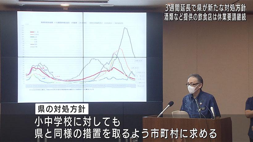 緊急事態宣言3週間延長 県が対処方針発表