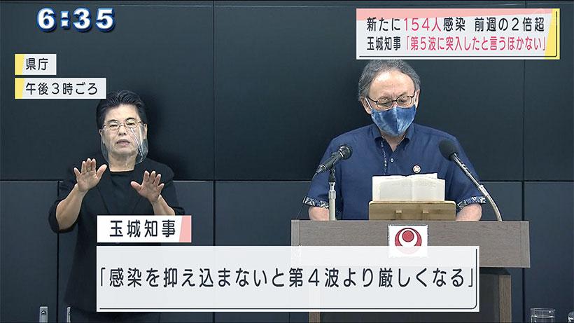沖縄県で新型コロナ新たに154人感染