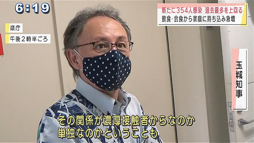 沖縄県で新型コロナ新たに354人感染 2カ月ぶり過去最多