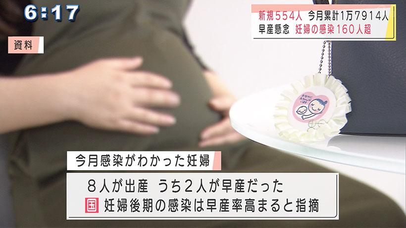 新型コロナ沖縄で新たに554人感染 8月は妊婦の感染が急増
