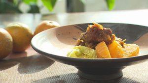 スペアリブのタンカン煮