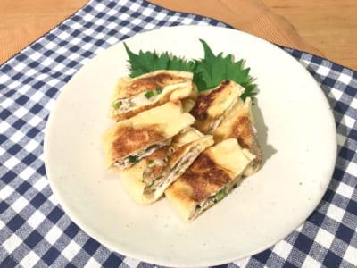 油揚げのツナチーズ焼き