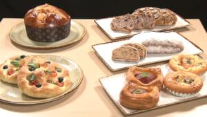 クリスマスバージョンのパン6種